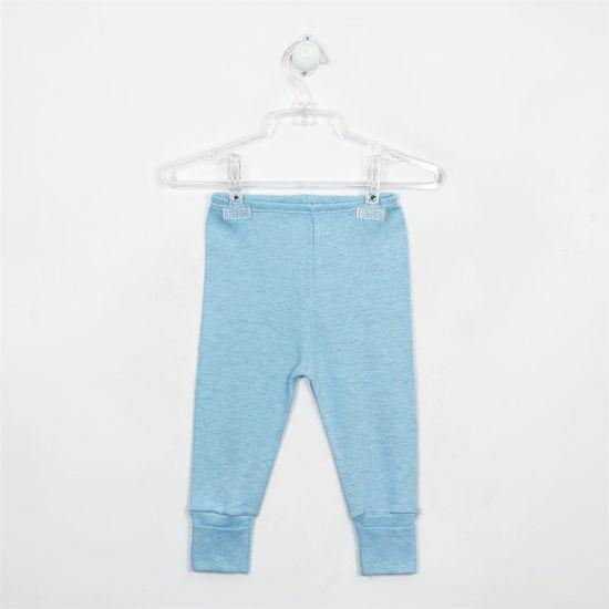 Mijão Bebê Masculino Mescla com Pé Reversível Azul Claro-P