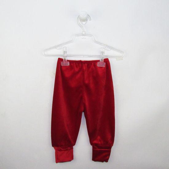 Mijão Bebê Unissex Plush com Pé Reversível Vermelho-M