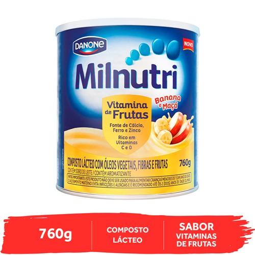 Milnutri Vitamina de Frutas Danone Composto Lácteo com Frutas 760g