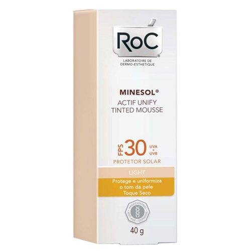 Minesol Actif Tinted Mousse Light Roc Fps 30 40g