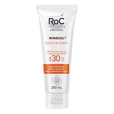 Protetor Solar Roc Minesol Corpo & Rosto Fps30 200ml