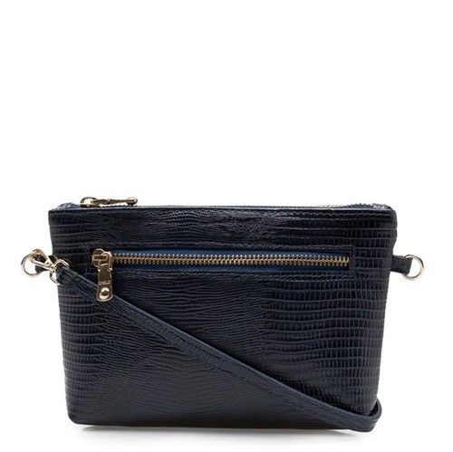 Mini Bag Couro - Lezard Marine UN