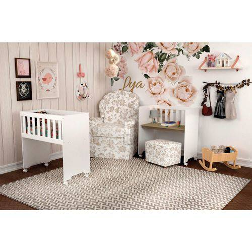 Mini Berço Lya Branco - Carolina Baby