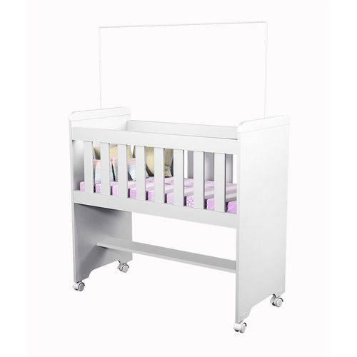 Mini Berço Lya com Rodízios Branco - Carolina Baby