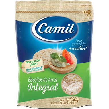 Mini Biscoito Integral de Arroz Camil 150g