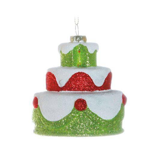 Mini Bolo P/pendurar Decoração Natal 10cm Verde