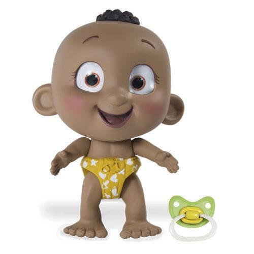 Mini Boneca Interativa - Tiny Tots - Menino Moreninho - Candide
