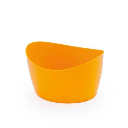 Mini Cachepot Oval Amarelo - Unidade