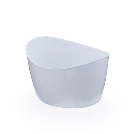 Mini Cachepot Oval Branco - Unidade