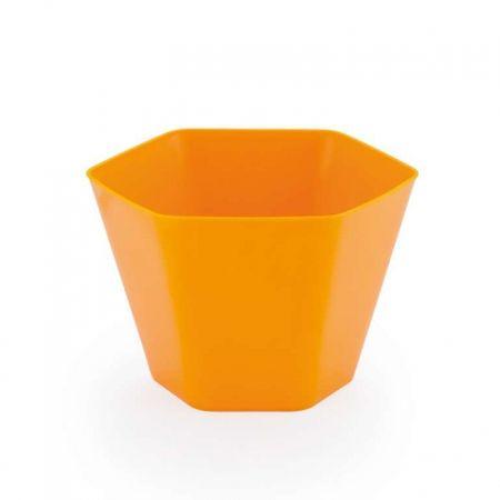Mini Cachepot Sextavado Amarelo - Unidade
