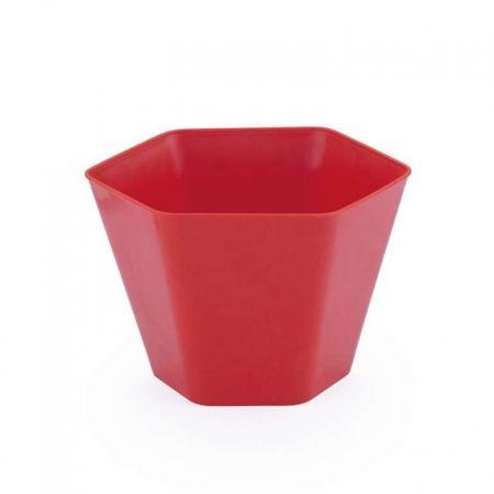 Mini Cachepot Sextavado Vermelho - Unidade