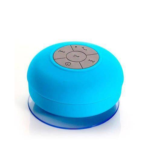 Mini Caixa de Som Portatil com Transmissão Via Bluetooth a Prova D´agua - AZUL