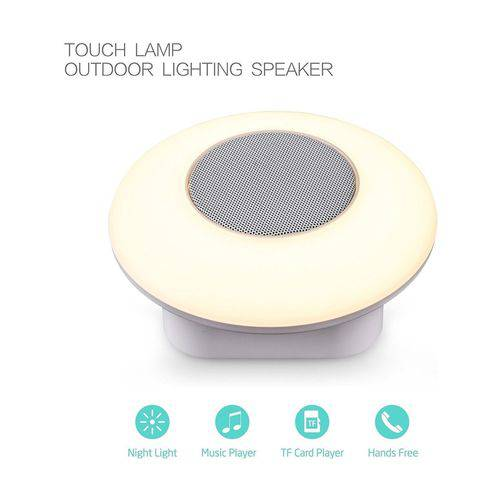 Mini Caixa Som Touch Lighting Speaker