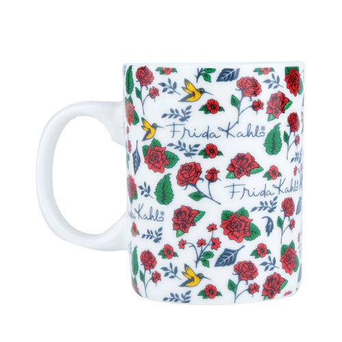 Mini Caneca Frida Kahlo Birds And Flowers - 135 Ml
