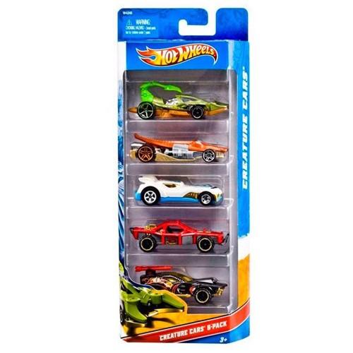Mini Carrinhos Hot Wheels Kit com 5 Modelos Mattel Sortido
