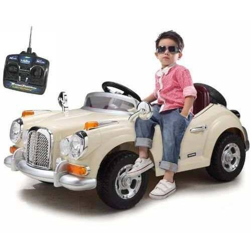 Mini Carro Elétrico Retrô Infantil 6v C/ Controle Luz Belfix