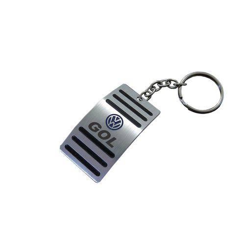 Mini Chaveiro Pedaleira Volkswagen Gol Aço Inox