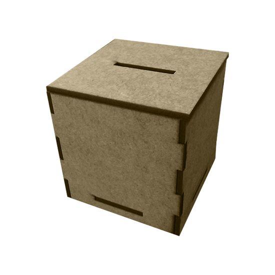 Mini Cofre Quadrado em MDF de Encaixe 7,2x7,2x7,5cm - Palácio da Arte