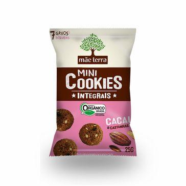 Mini Cookies Orgânicos Cacau e Castanhas Mãe Terra 25g