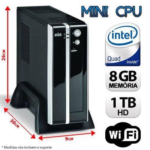 Mini Cpu Desktop Intel Quad Core, 8gb Ram, 1tb Hd, Wifi