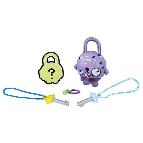Mini Figura - Cadeado Surpresa - Lock Stars - Asqueroso Roxo - Hasbro