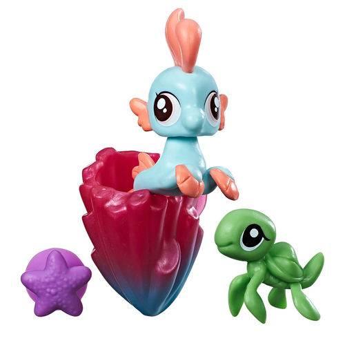 Mini Figura My Little Pony com Acessórios - Mini Pônei Sereia - Bubble Splash - Hasbro