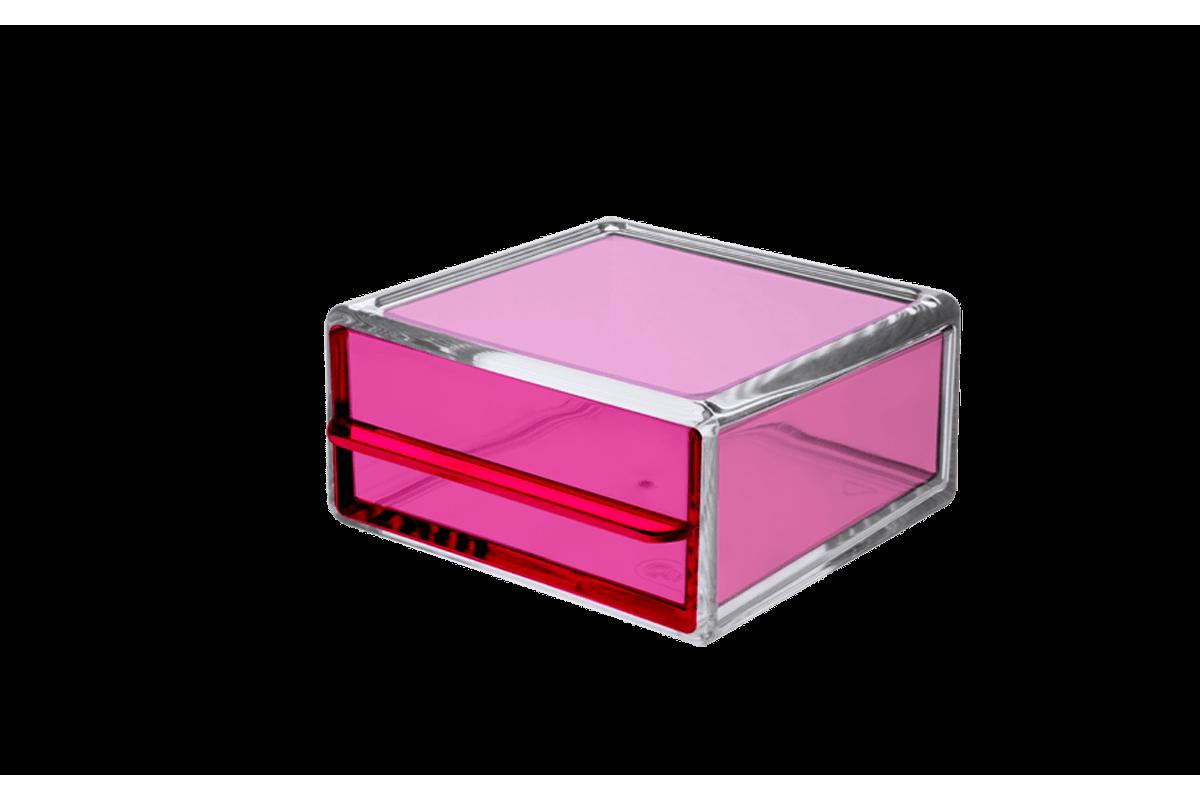 Mini Gaveta Organizadora - Beauté 10,3 X 10 X 5,4 Cm Rosa Coza