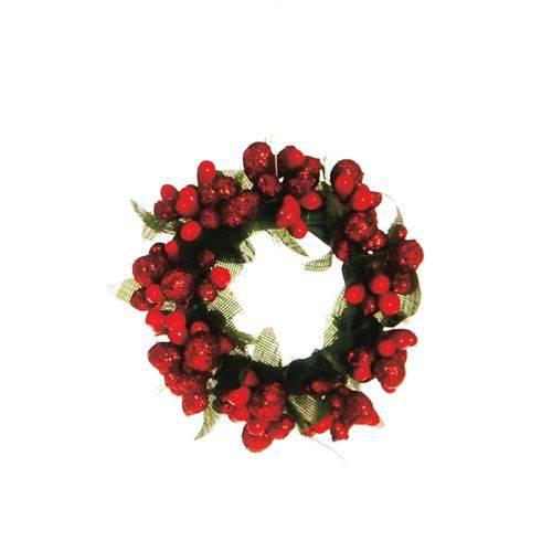 Mini Guirlanda Decoração Natal 6cm Vermelho