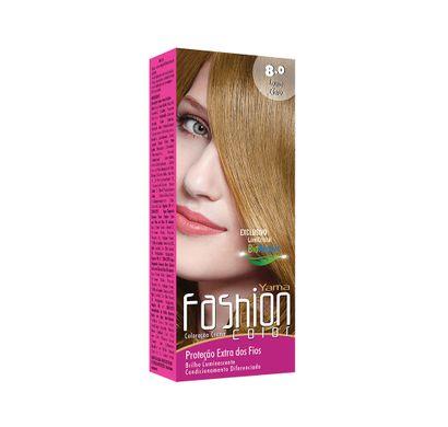 Mini Kit Coloração Creme Fashion Color 8.0 Louro Claro - Yamá