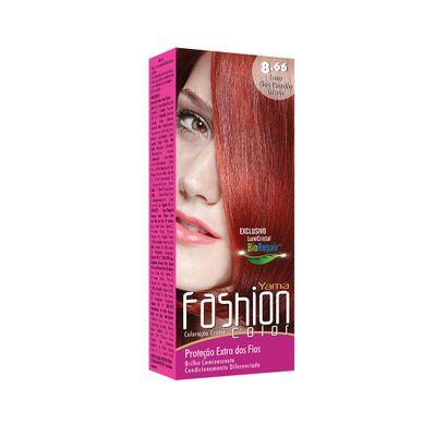 Mini Kit Coloração Creme Fashion Color 8.66 Louro Claro Vermelho Intenso - Yamá