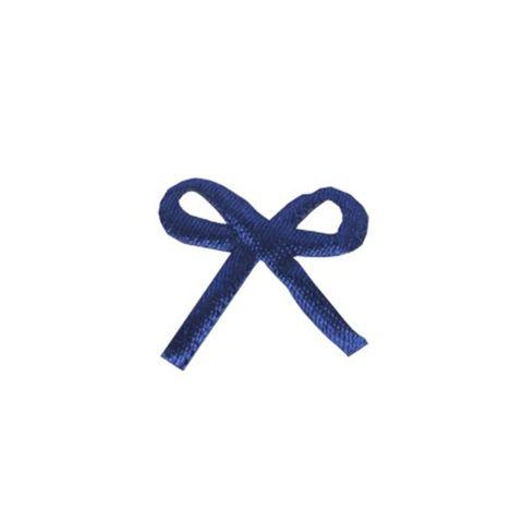 Mini Laço Cetim C/100 Azul Escuro - Laleti