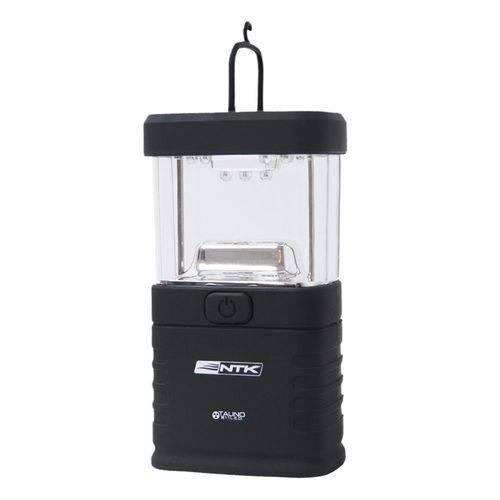 Mini Lampiao de LED Portatil a Pilha para Camping Talino NTK Preto