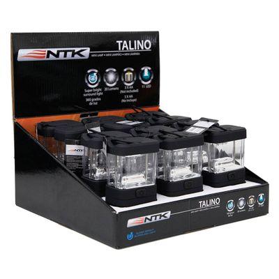 Mini Lampião NTK com Iluminação em 360°, Compacto e em Material Resistente de 20 Lúmens em Caixa com 12 Peças Talino