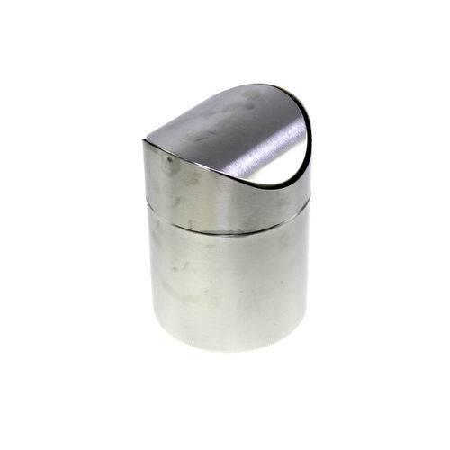 Mini Lixeira de Pia Multiuso Inox Tampa Basculante 16x12cm