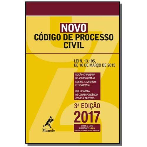 Mini Novo Codigo de Processo Civil