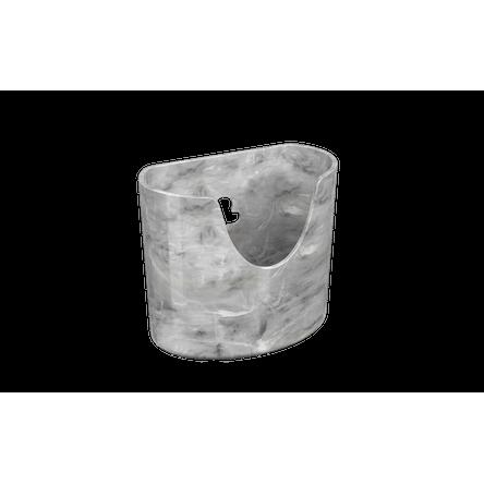 Mini Organizador Glass 10,4 X 5,6 X 9 Cm 10,4 X 5,6 X 9 Cm 10,4 X 5,6 X 9 Cm Mármore Branco Coza