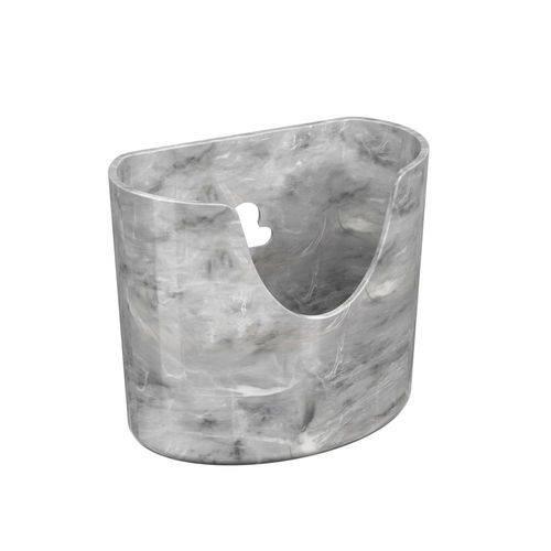 Mini Organizador Glass 10,4 X 5,6 X 9 Cm Mármore Branco - Coza
