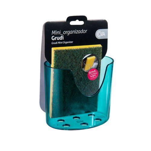 Mini Organizador Grudi Retrô Verde Transparente - Coza
