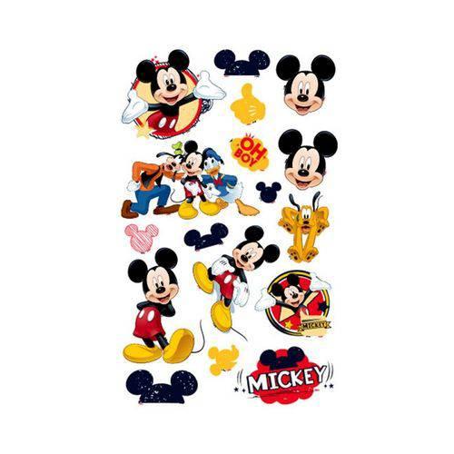 Mini Personagens Decorativo Mickey Clássico - 17 Unidades