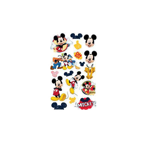 Mini Personagens Decorativos Mickey Clássico C/17 Unidades