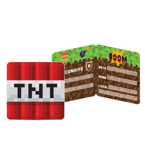 Mini Pixels Convite C/8 - Junco