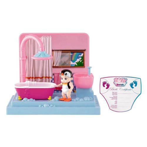 Mini Playset Baby Secrets - Hora do Banho - Bebê Pinguim - Candide