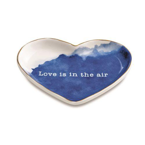 Mini Prato em Formato de Coração Love Is In The Air 12,5x10cm