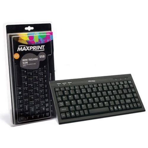 Mini Teclado Slim Maxprint Multimidia Usb - Preto 607244