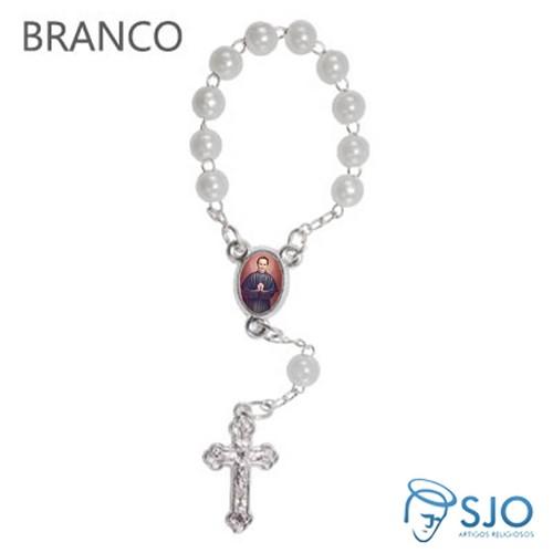 Mini Terço com Foto de Dom Bosco   SJO Artigos Religiosos