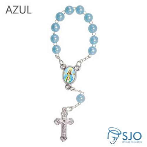Mini Terço com Foto de Nossa Senhora da Guia | SJO Artigos Religiosos
