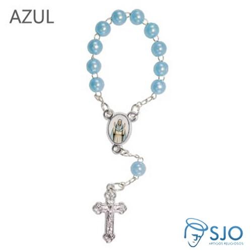 Mini Terço com Foto Nossa Senhora do Equilíbrio | SJO Artigos Religiosos