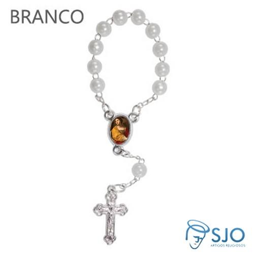 Mini Terço com Foto Santa Cecília   SJO Artigos Religiosos
