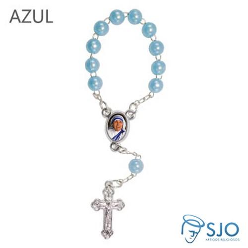 Mini Terço com Foto Santa Teresa de Calcutá   SJO Artigos Religiosos