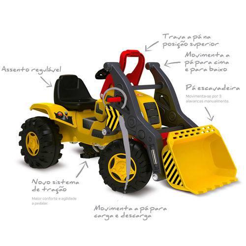 Mini Veículo - Trator Escavadeira - Bandeirante